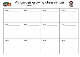 Plant Growth Observation Chart Plant Growth Chart For Kids Www Bedowntowndaytona Com