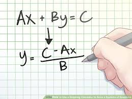 image titled use a graphing calculator to solve a systems of equations step 1