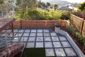 square concrete paver patio. Contemporary Pavers Patio With Cast Concrete Metal Balustrade Border Square Paver Y