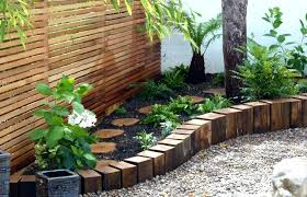 wooden garden edging wood archives my wonder borders ideas wooden garden edging