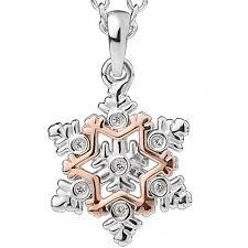 snowflake swarovski white topaz pendant