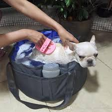 2019 pvc portable foldable pet bathtub for small dogs and small cats teddy outdoor summer washing swimming pool bathtub from china whole10