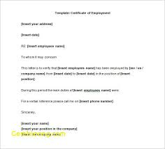 Certification Of Employment Sample Inspirational Template