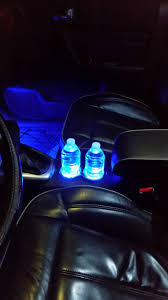 Blue Led Dome Lights For Cars Closeup Picture Of The Blue Led Cupholder Lighting I Just