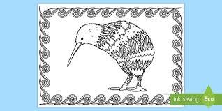 Small Picture Kiwi Mindfulness Colouring Page English New Zealand New