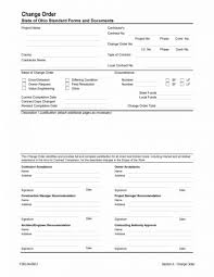 012 Construction Change Order Form Template Stirring Ideas