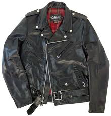 schott nyc mens 626 cowhide fitted motorcycle jacket