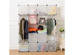 4 tier 6 compartment storage cubes closet organizer shelfbookcase storage