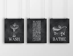 Image Design Antique 50 Etsy Vintage Bathroom Wall Art Trio Print Bathroom Rules Wall Etsy