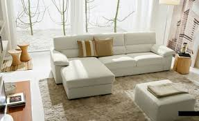 cream couch living room ideas: nice looking modern small living room with nice white sectional sofa