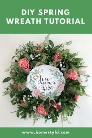 pin this diy spring wreath tutorial