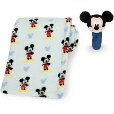 Your little one will be all ears at playtime with this printed ... & Disney Baby Mickey Mouse Printed Blanket and Stick Rattle Set Adamdwight.com