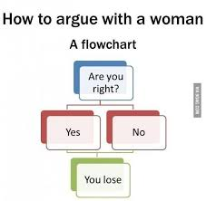 Women Argue Flow Chart Funny Jokes Funny Quotes Women Logic