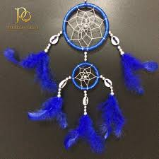 Cherokee Indian Dream Catcher FC100 Double Rings Royal Blue Cherokee Indian Dream Catchers 26