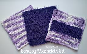 Red Heart Scrubby Pattern Beauteous By Jenni Designs Free Crochet Pattern Scrubby Washcloth Set