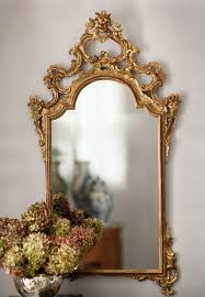 hand holding antique mirror. Gorgeous Hand Carved 18th Century Italian Style Mirror With Floral Design And Antiqued Gold Leaf Finish Holding Antique