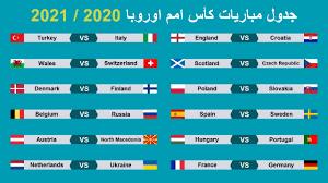 جدول المباريات كأس امم اوروبا 2020 ومجموعات البطولة وتوقيت المباريات -  YouTube