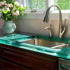 10 Most Popular Kitchen Countertops ... The glass countertop is very slick.