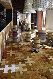 wooden puzzle pieces flooring