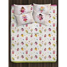 fairy princess double bed sheet