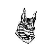 Fototapeta Seth Egyptský Bůh Tetování Ilustrace