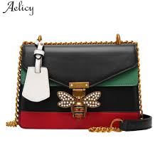 Replica Designer Bags Us 14 06 43 Off Aelicy Fashion Pu Leather Woman Designer Bags Luxury High Quality Chains Fake Designer Handbags Crossbody Bags For Women 1124 In