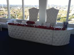 leather head table al los angeles king and queen chairs