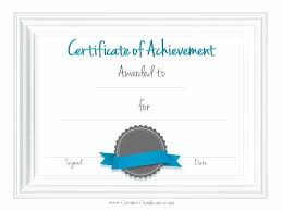 Sample Awards Certificate Sample Achievement Certificate Template Blank Of Free