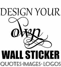 personalised wall sticker custom