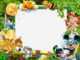 free psd template photo frames for baby photos with disney cartoon characters
