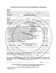 Firearms Bill Of Sale Florida Bill Of Sale Form Florida Firearm Bill Of Sale Templates