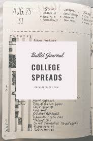 Bullet Journal Spreads For College Organization Greyzone Pages
