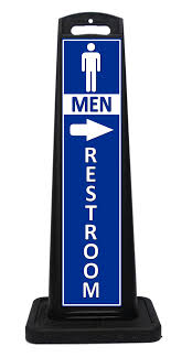 blue mens bathroom sign. Portable Blue Mens Restroom Sign For Indoor Or Outdoor Use. Other Colors Available. Tall Bathroom E