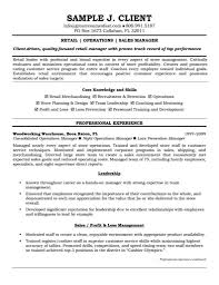 Extraordinary Inspiration Retail Manager Resume Examples 11
