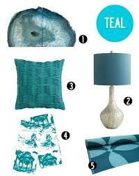 Teal Home Decor Accents decor accents in the hottest summer hues 2