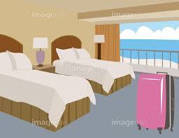 リゾートホテルの客室】の画像素材(14407458) | イラスト素材ならイメージナビ