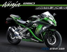 moto kawasaki. striping motor kawasaki ninja 250 fi warna hijau desain monster energy zx 05 moto