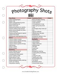 Wedding Photography Checklist Template If You And Your Photographer Dont Know What Pictures You