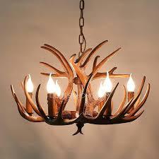 mini antler chandelier vintage 6 light brown resin fixture faux antler chandelier deer horn chandelier chandeliers