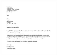 Sample Of Resignation Letter From Jobs Free 14 Job Resignation Letter Templates In Pdf Doc