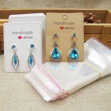 "<b>6.5*5cm white/kraft jewelry paper</b> Earring Cards ""Handmade with ..."