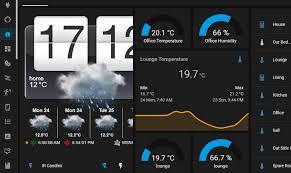htc flip clock with weather third