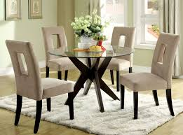 large round glass dining table decorating dining area with round