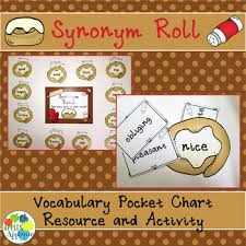 Chart Synonym Synonym Roll Vocabulary Pocket Chart