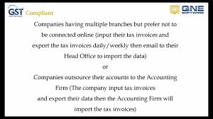 4 Gst Export Tax Invoices To Head Office Accounting Firm Using