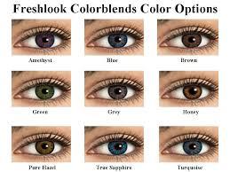 Freshlook Colorblends Toric Color Chart Discount Freshlook Colorblends Cosmetic Color Contact Lenses