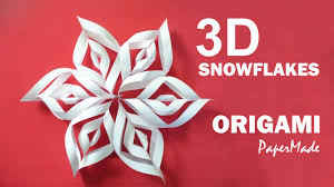 How To Make A 3d Snowflake How To Make Beautiful 3d Snowflakes Origami Very Easy Tutorial Diy Papermade