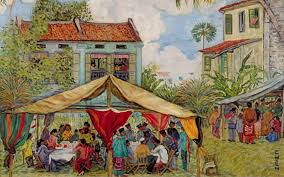 oil painting of a malay wedding oil on canvas 65 x 81cm georgette chen c 1959 collection of national heritage board singapore