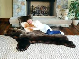 bear skin rug faux with head country meme