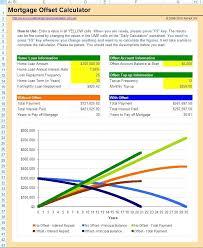 Excel Mortgage Calculator Home Loan Calculator Excel Free Mortgage Offset Calculator Home Loan